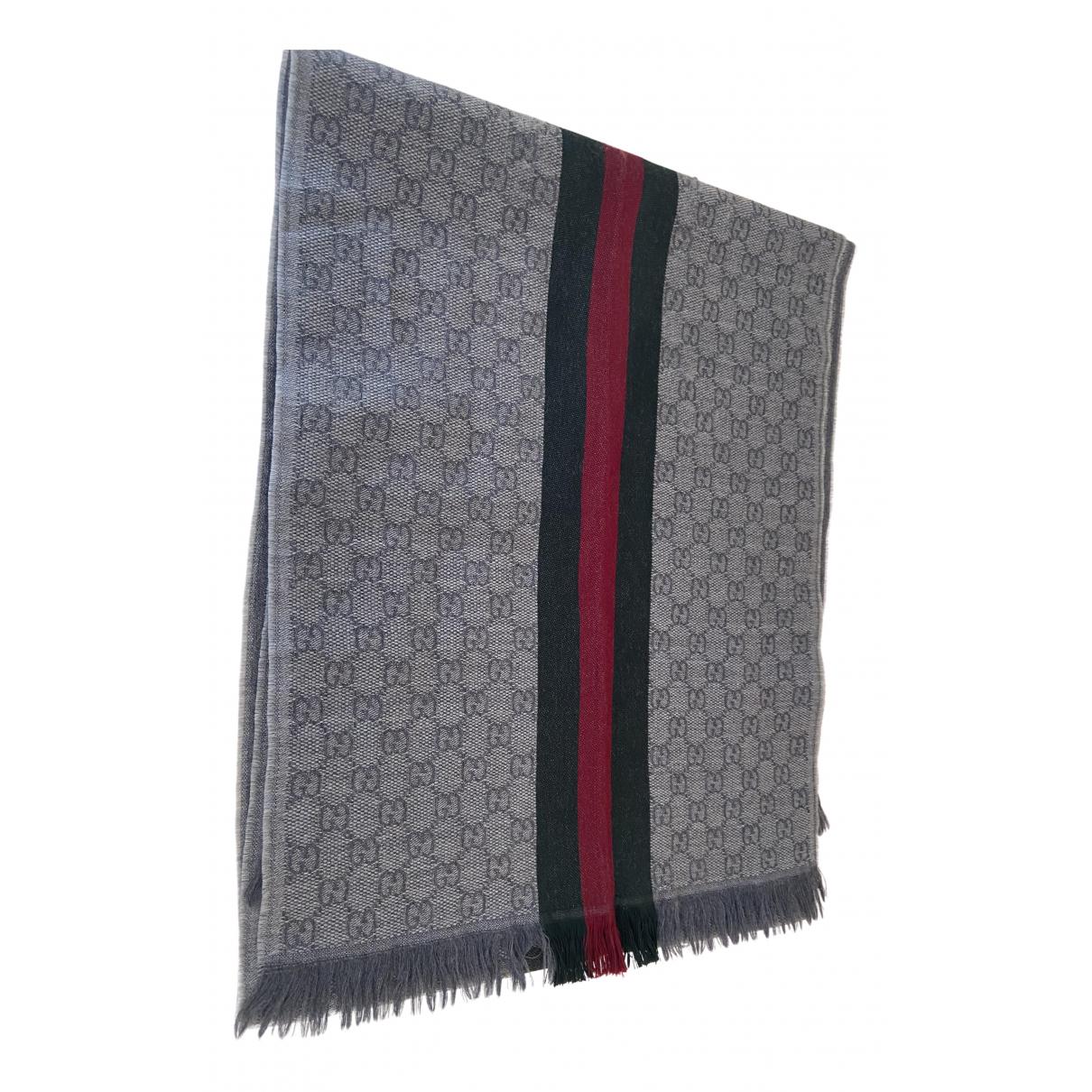 Gucci N Grey Wool scarf & pocket squares for Men N