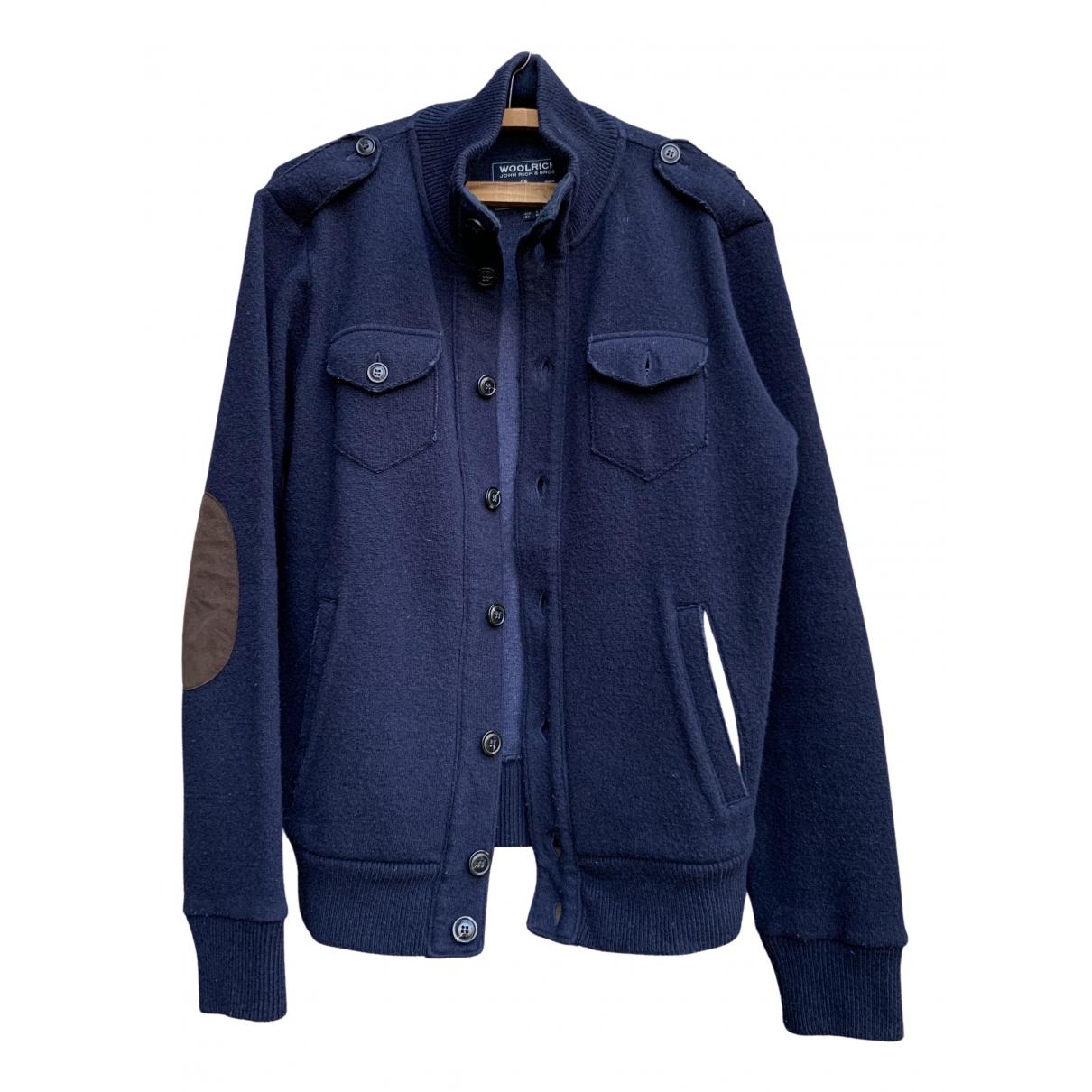 Woolrich - Vestes.Blousons   pour homme en laine - bleu