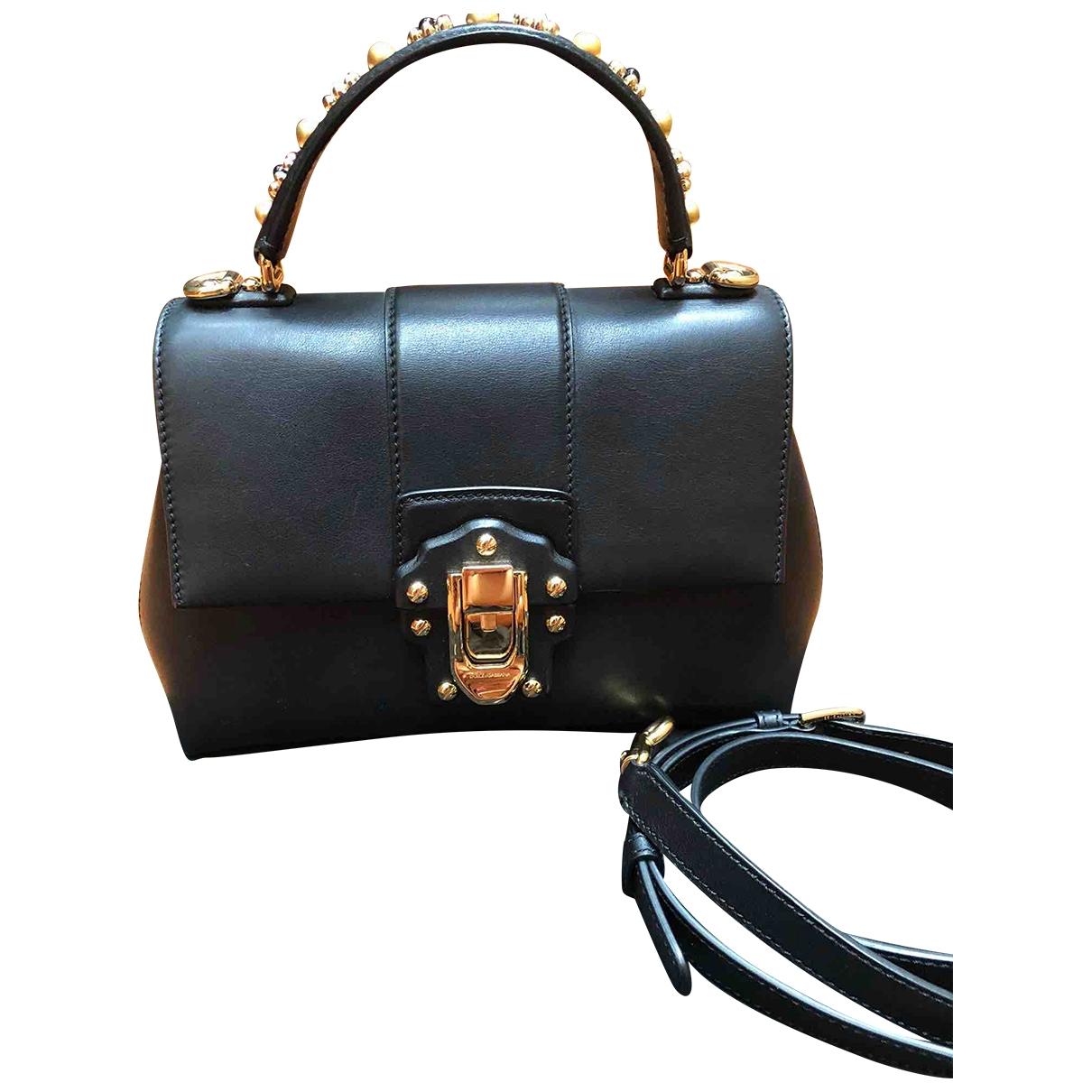 Dolce & Gabbana Lucia Black Leather handbag for Women \N