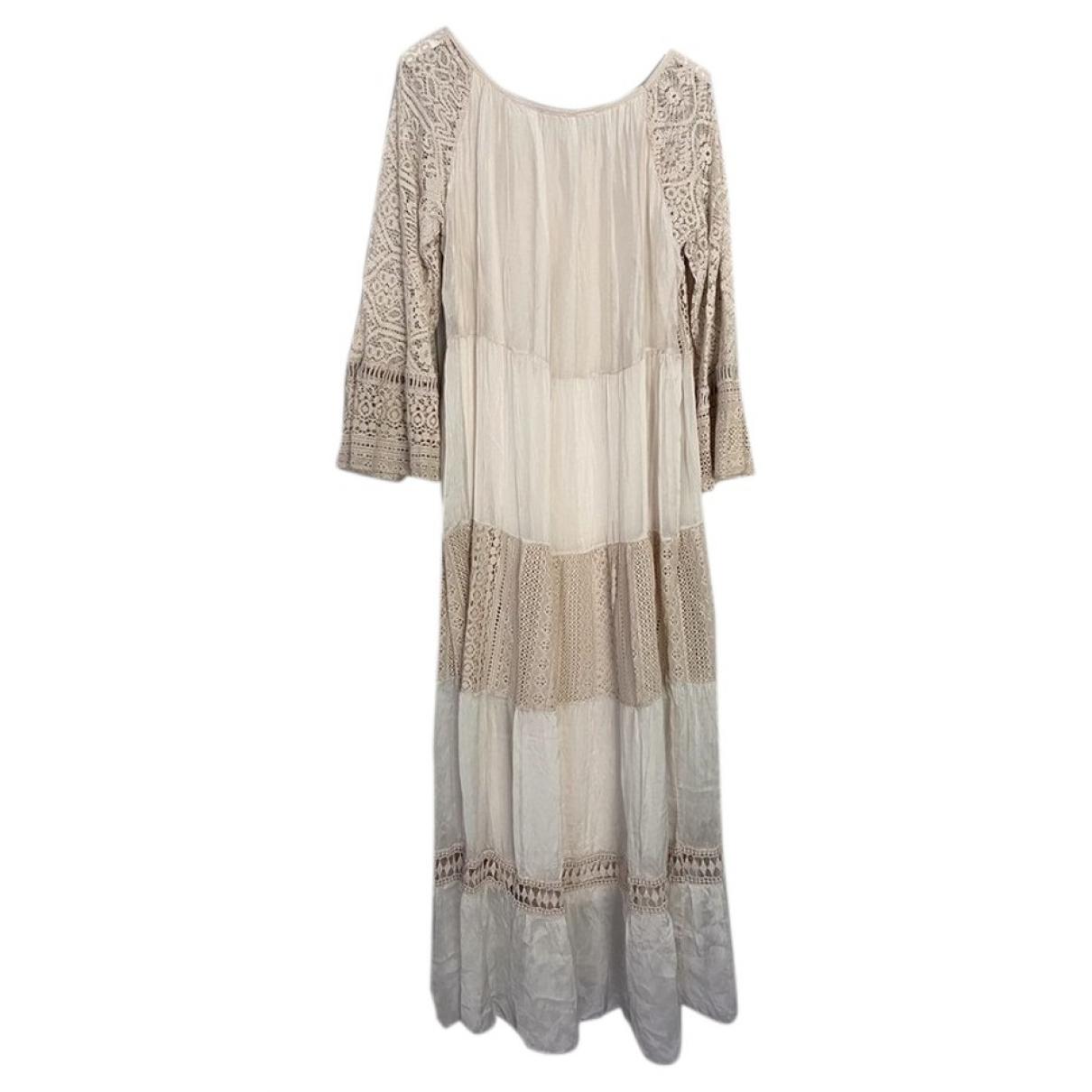 Non Signe / Unsigned \N Kleid in  Beige Spitze