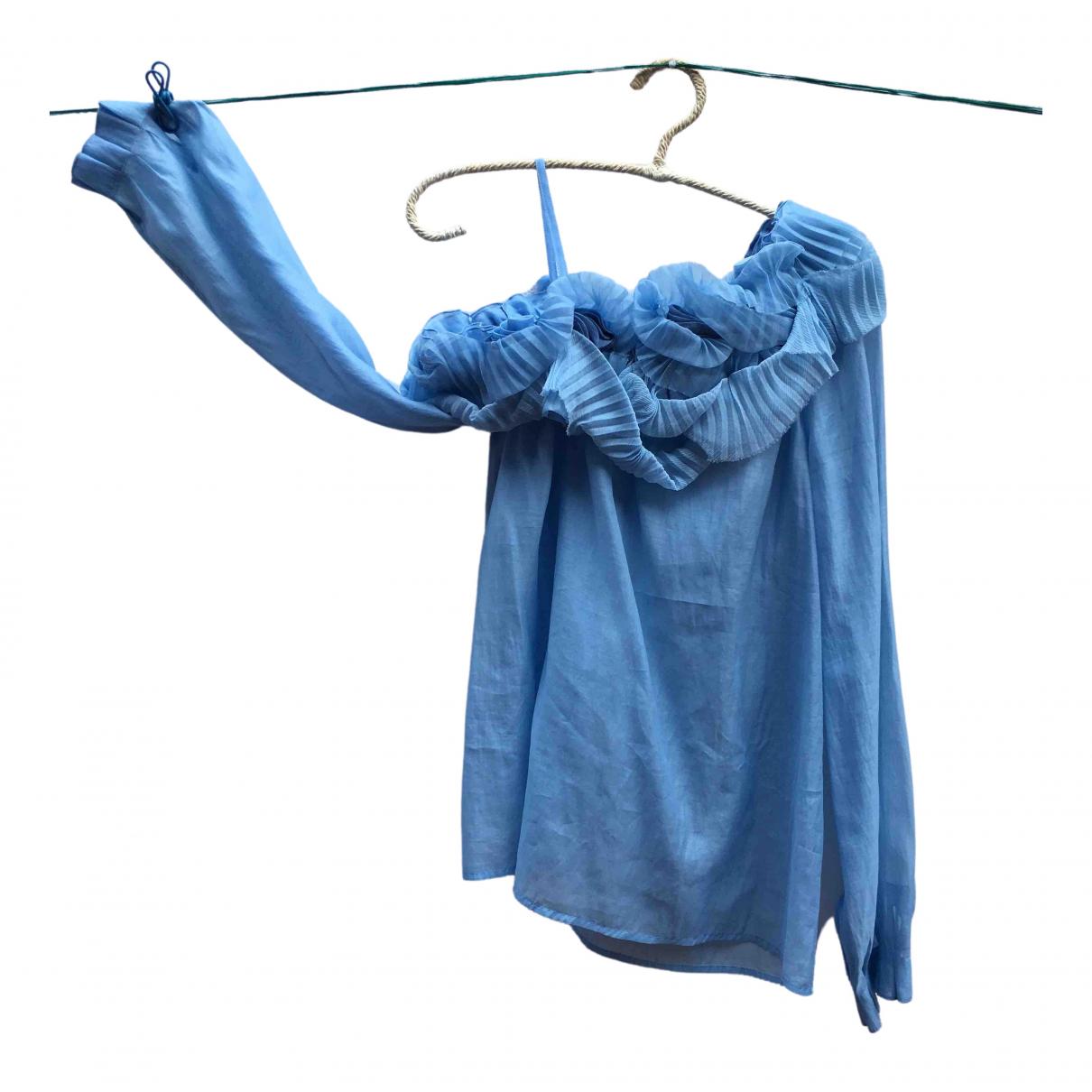Ermanno Scervino \N Blue Cotton  top for Women 42 IT