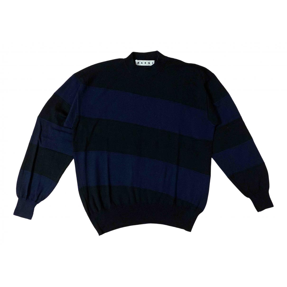 Marni N Navy Wool Knitwear & Sweatshirts for Men 48 IT