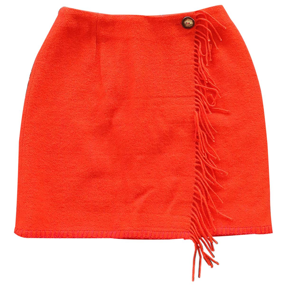 Lauren Ralph Lauren - Jupe   pour femme en laine - rouge