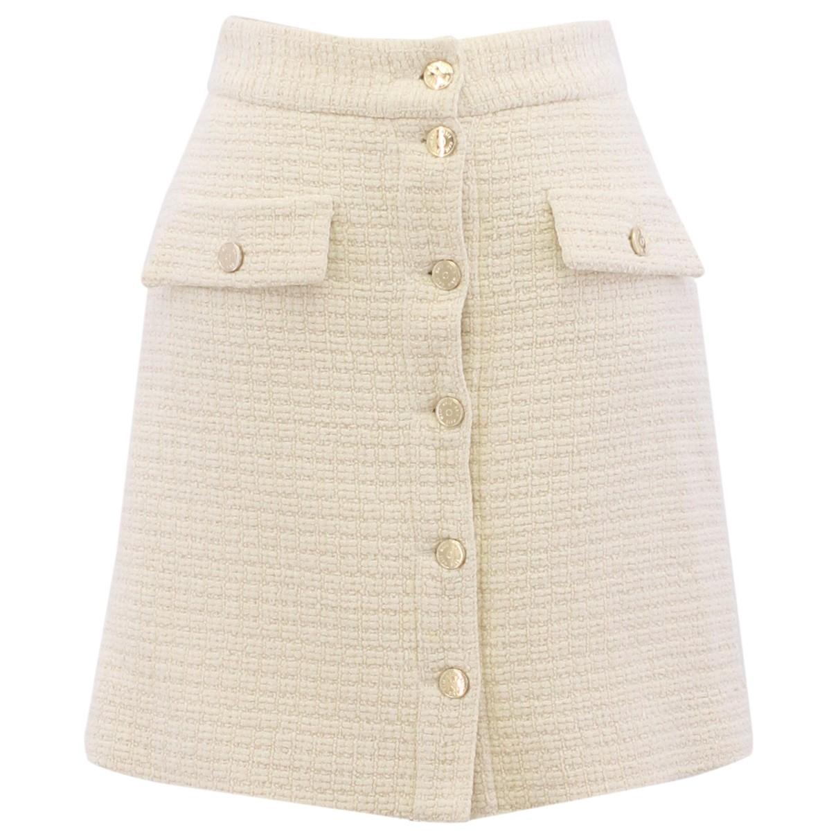Maje - Jupe   pour femme en coton - ecru
