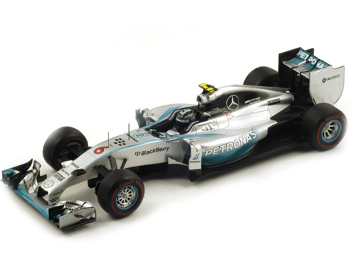 2014 GP Monaco Winner Mercedes Petronas F1 W05 6 Nico Rosberg Formula 1 1/18 Model Car by Spark