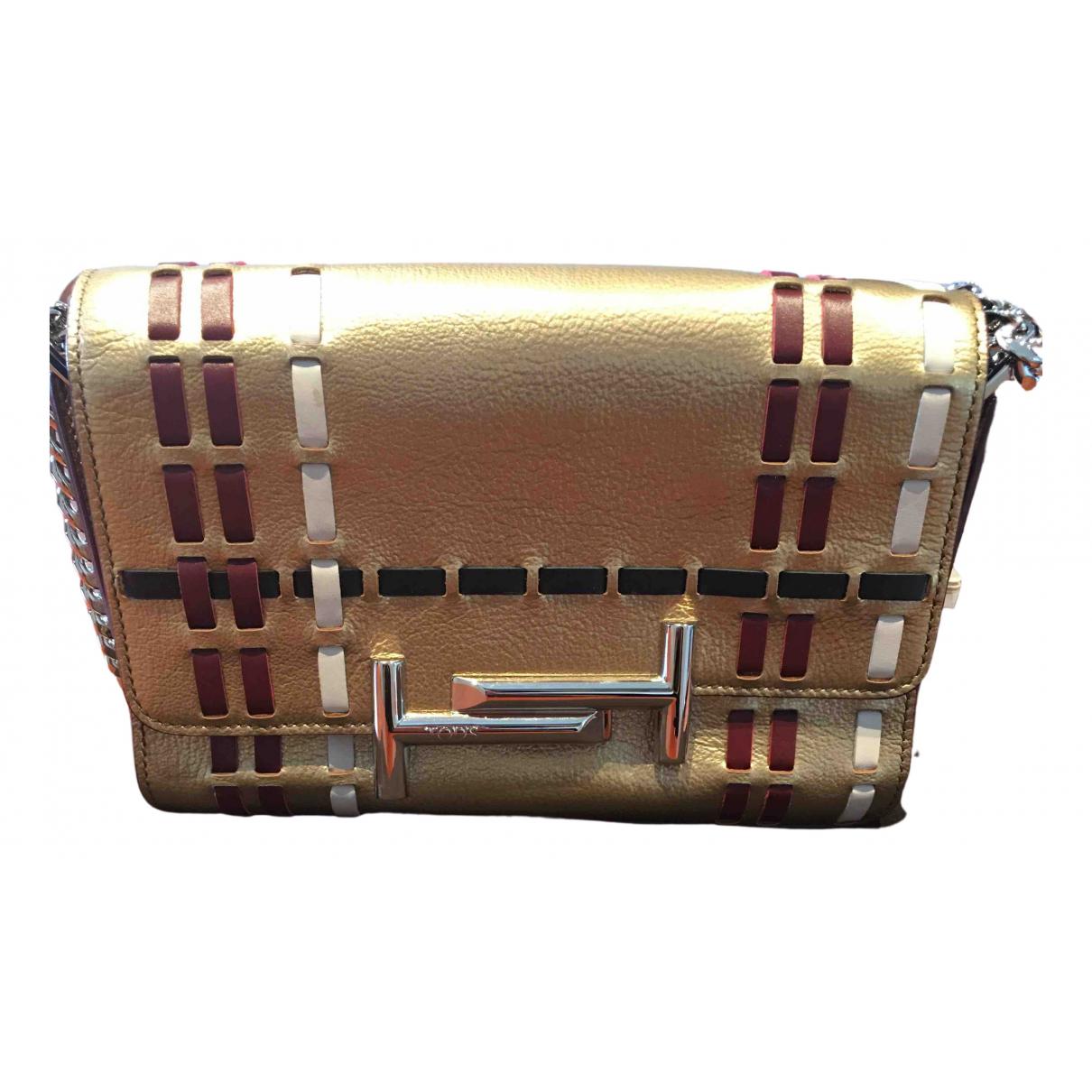 Tod's N Gold Leather handbag for Women N