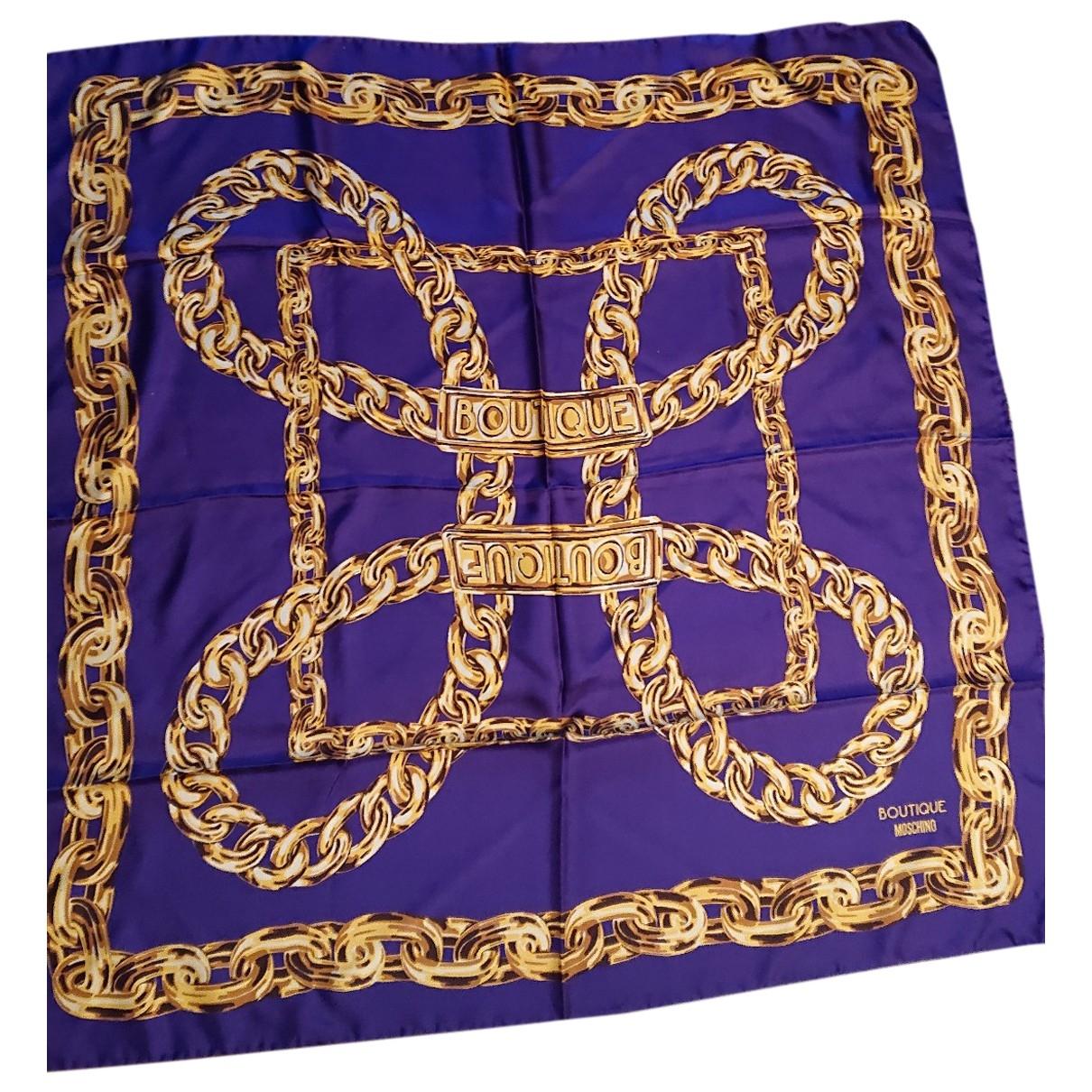 Moschino \N Purple Silk scarf for Women \N