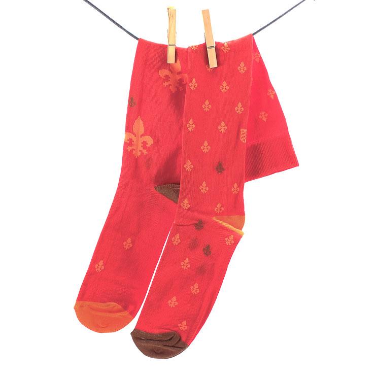 OYBO, Versailles Blood Unisex Knee Socks, rot-orange Grosse 41-44