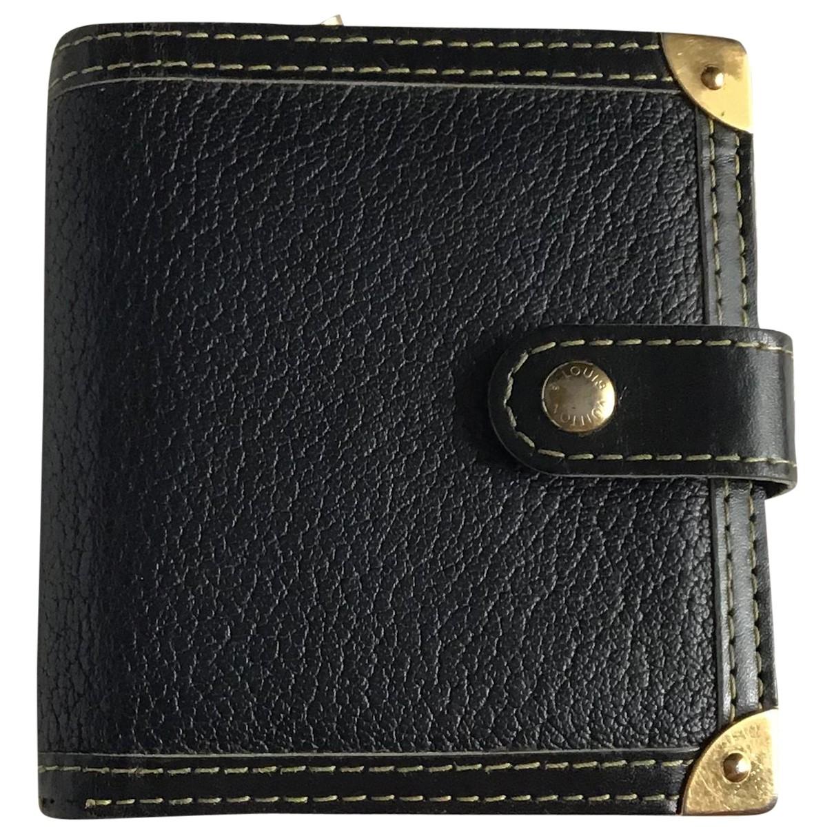 Louis Vuitton \N Black Leather wallet for Women \N