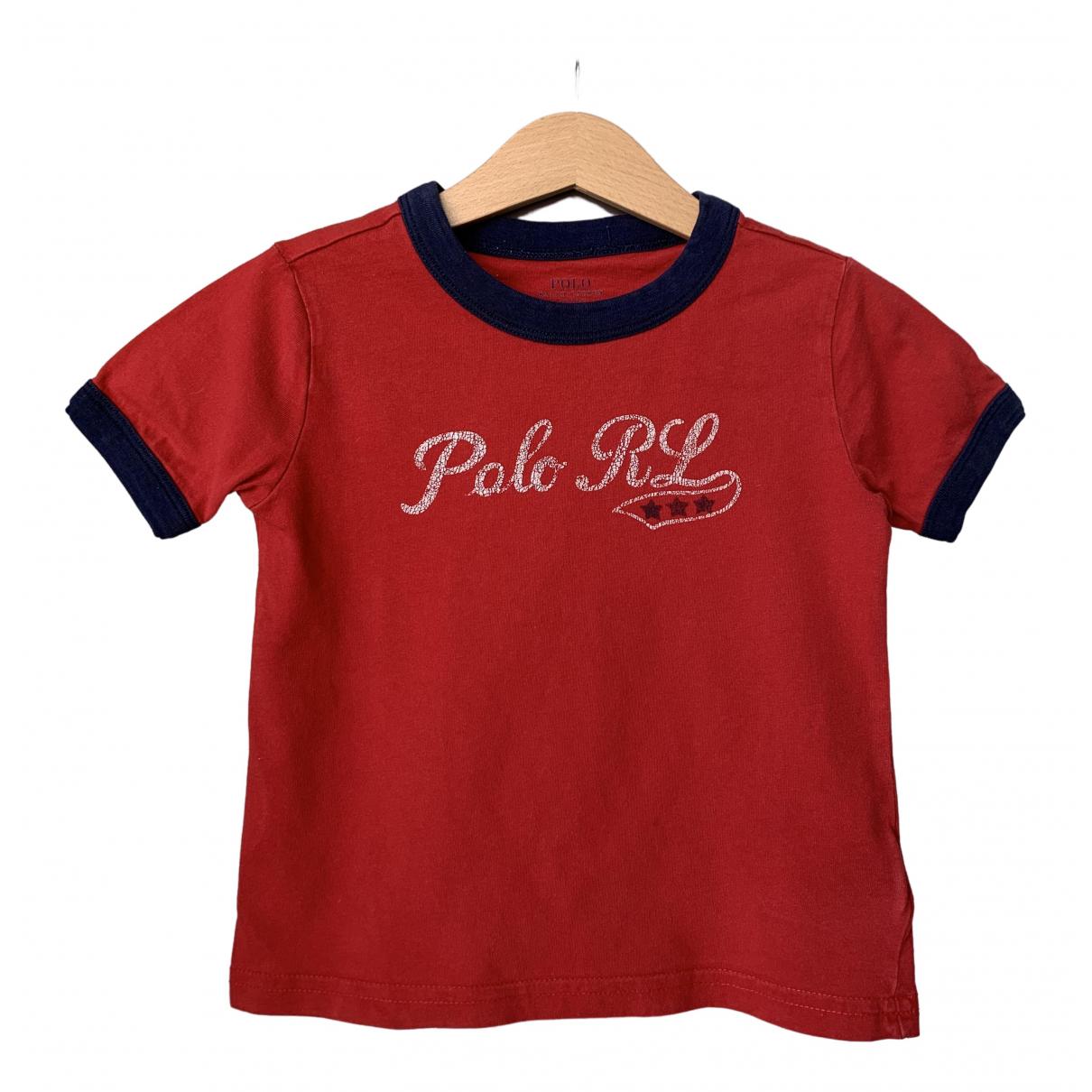 Polo Ralph Lauren - Top   pour enfant en coton - rouge