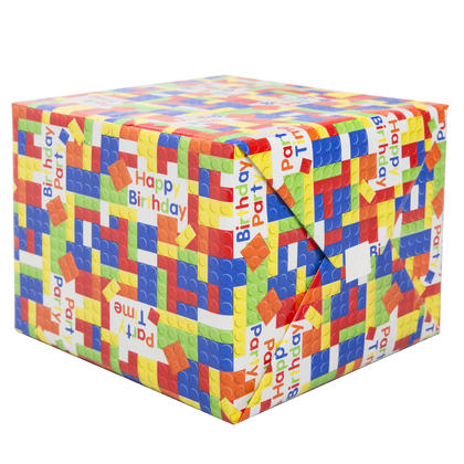 Building Blocks Birthday Gift Wrap, 30