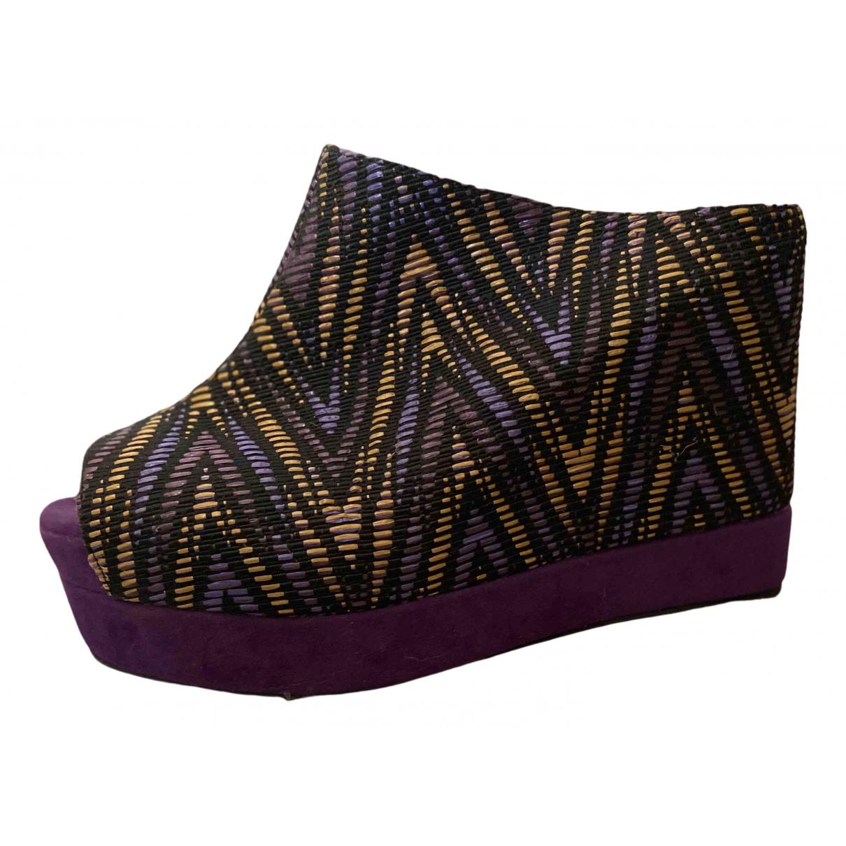 Jeffrey Campbell - Sabots   pour femme en cuir - violet