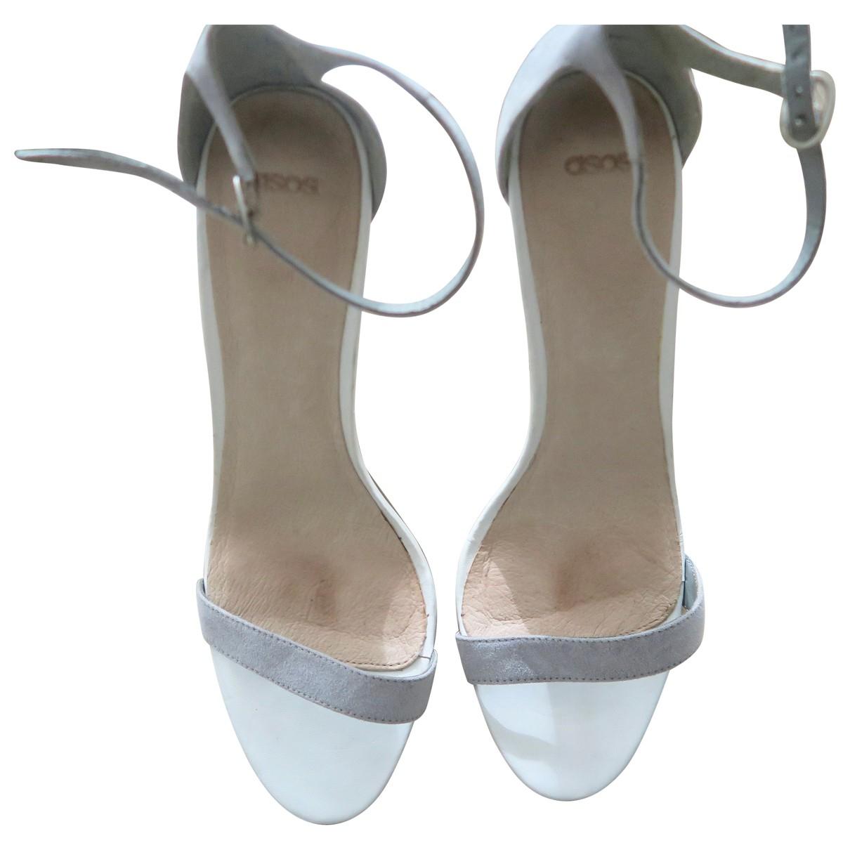 Asos \N Grey Leather Sandals for Women 41 EU