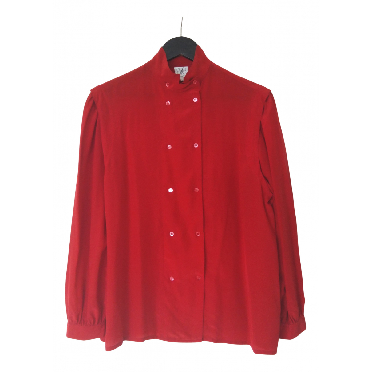 Non Signé / Unsigned \N Red Silk  top for Women 40 FR