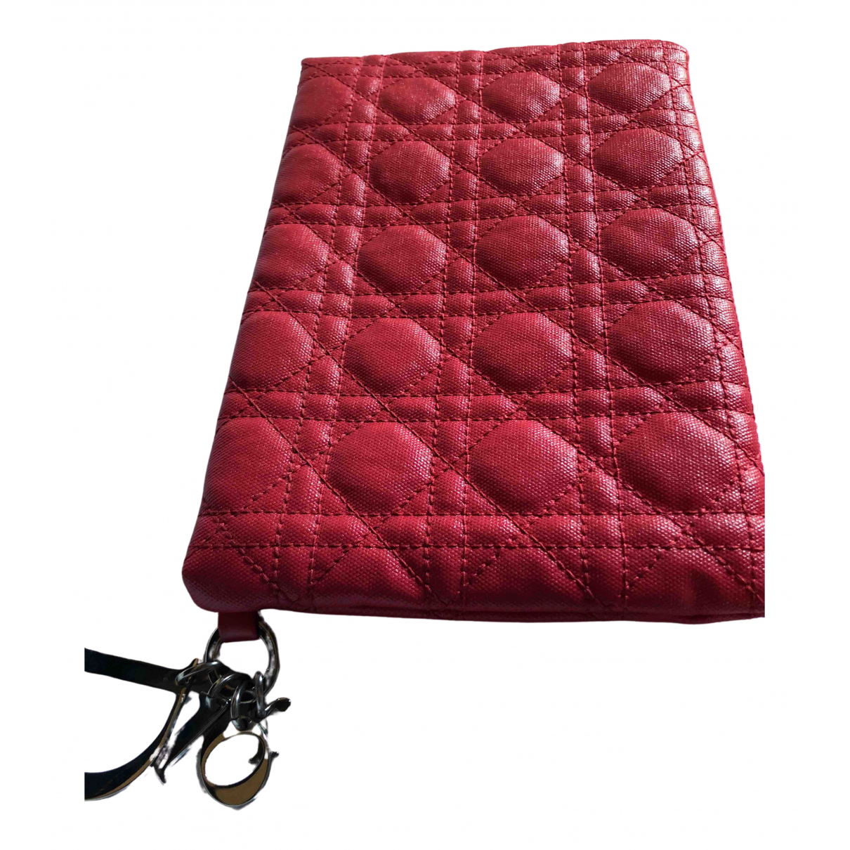 Dior Miss Dior Clutch in  Rot Leinen