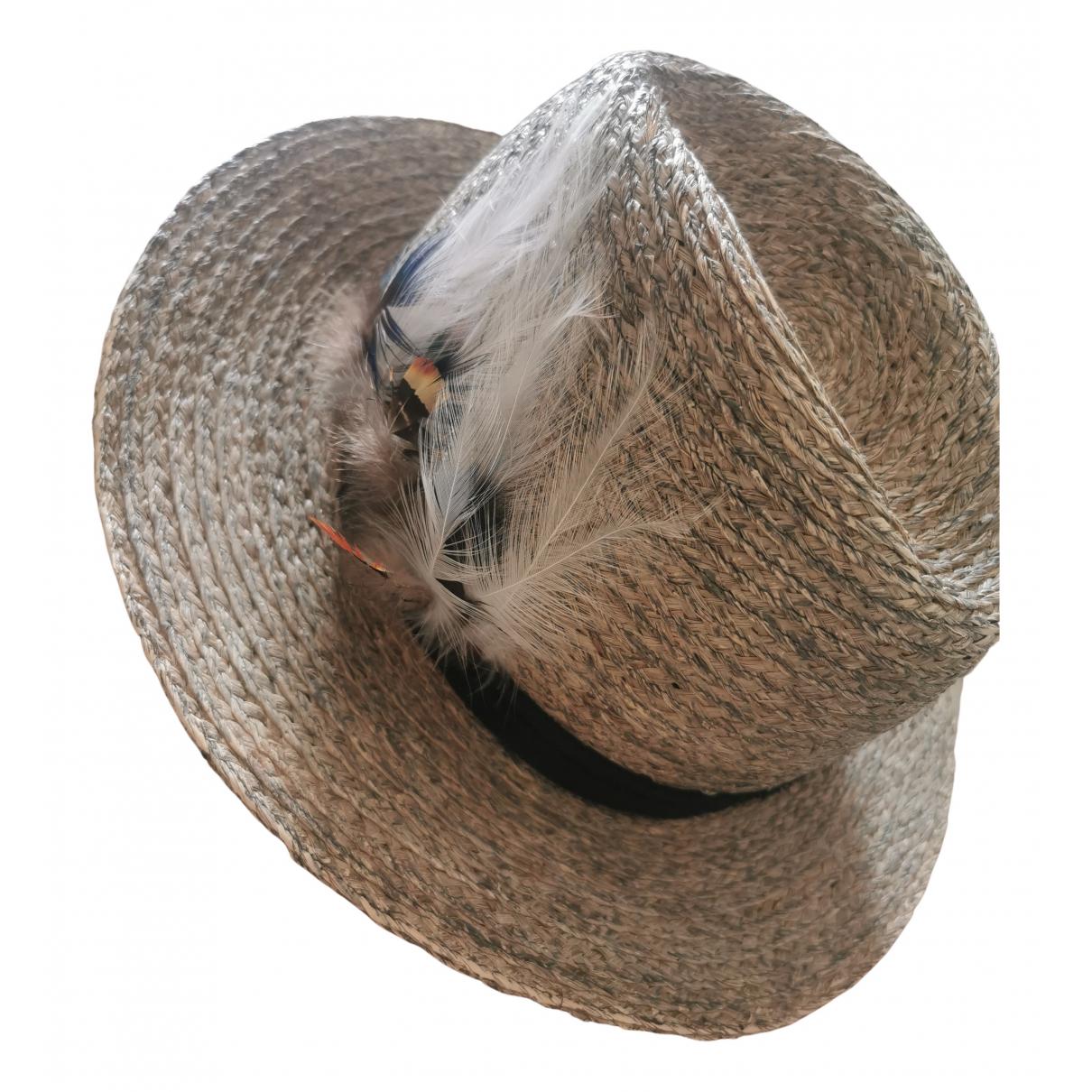 Zadig & Voltaire Spring Summer 2020 Grey Wicker hat for Women 57 cm