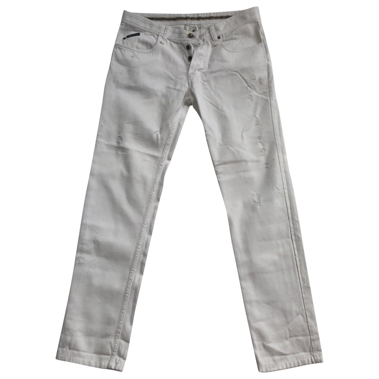 D&g \N White Cotton Jeans for Men 34 US