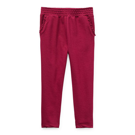 Okie Dokie Toddler Girls Straight Jogger Pant, 5t , Red