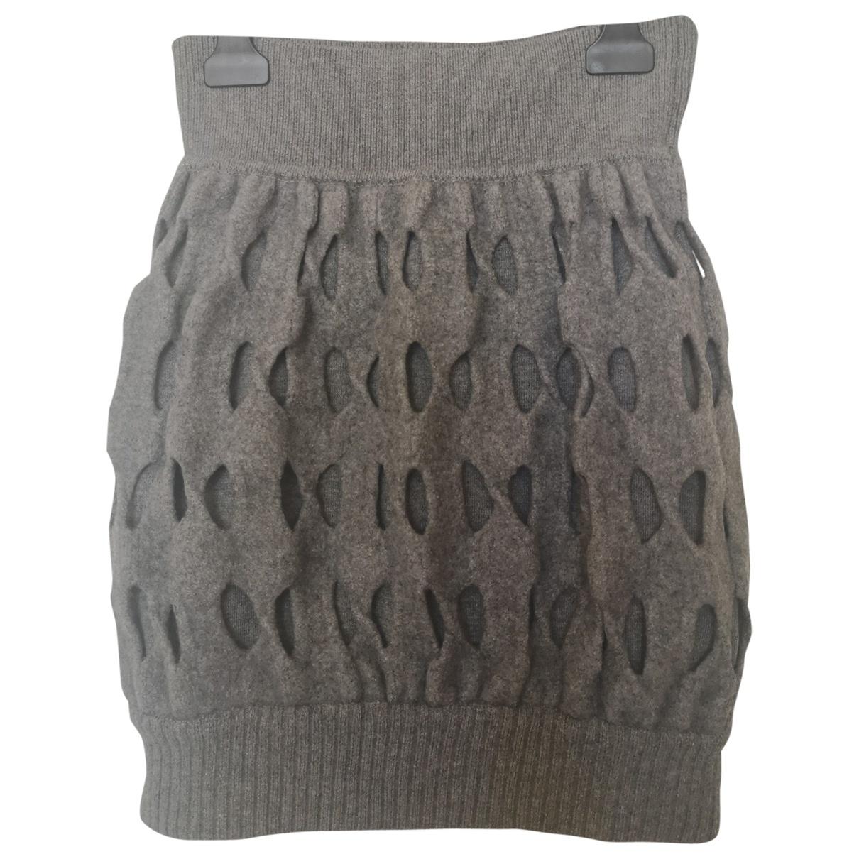 Fendi \N Rocke in  Grau Wolle