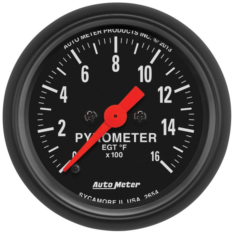 AutoMeter GAUGE; PYROMETER (EGT); 2 1/16in.; 1600deg.F; DIGITAL STEPPER MOTOR; Z-SERIES