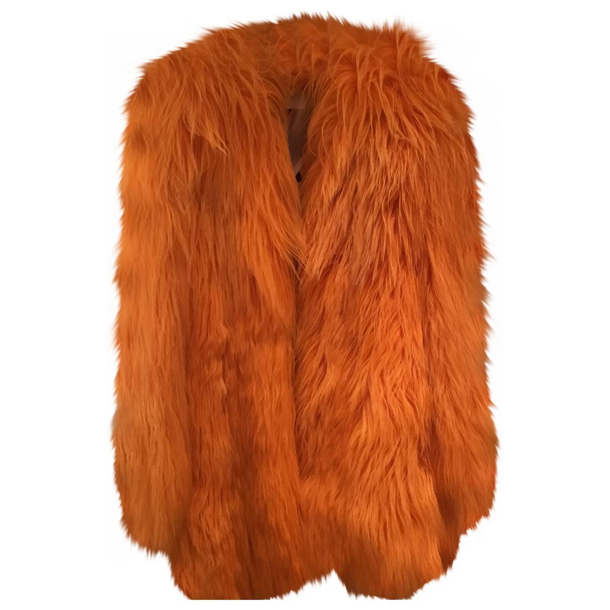 Emilio Pucci \N Orange Fur coat for Women 40 IT