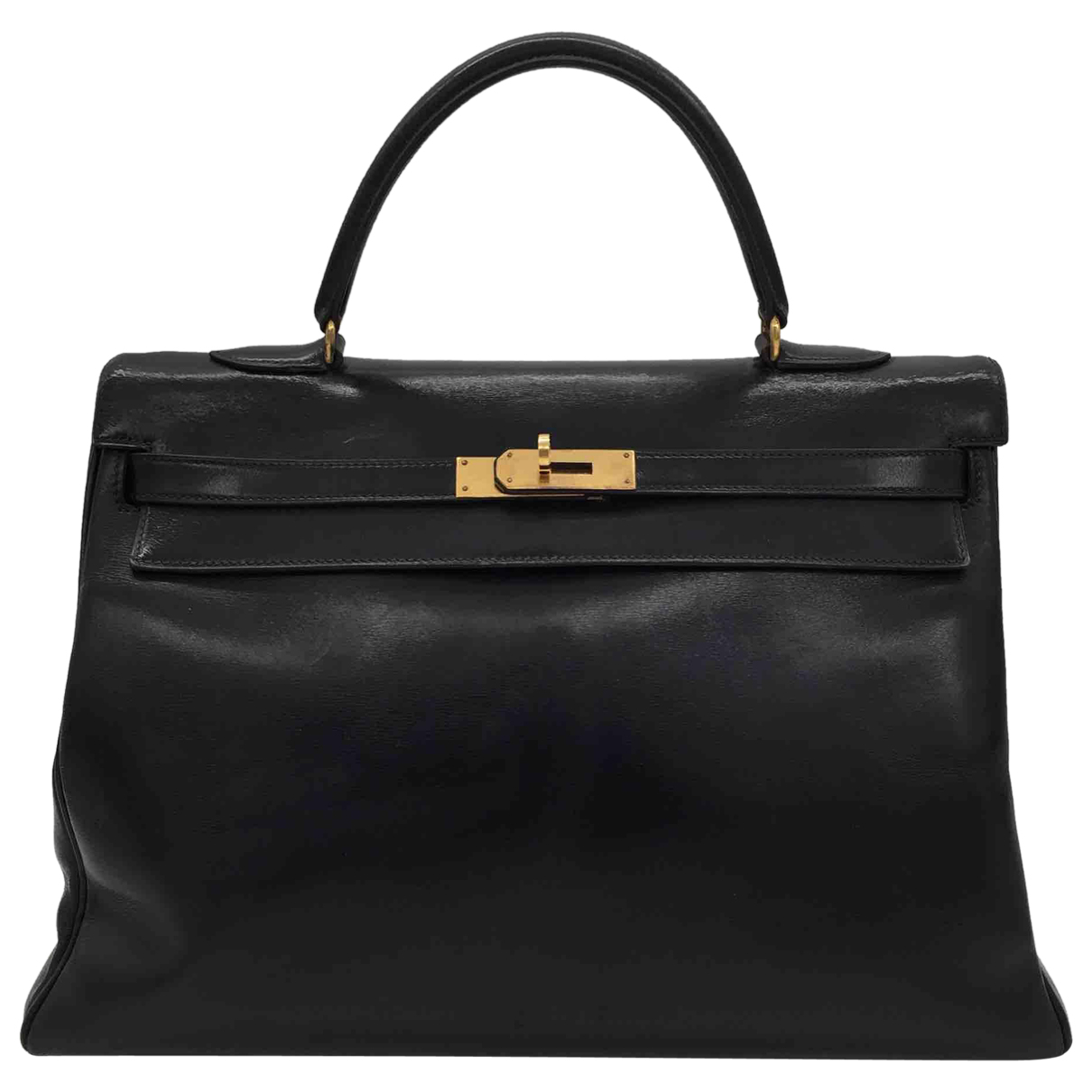 Hermès Kelly 35 Black Leather handbag for Women N