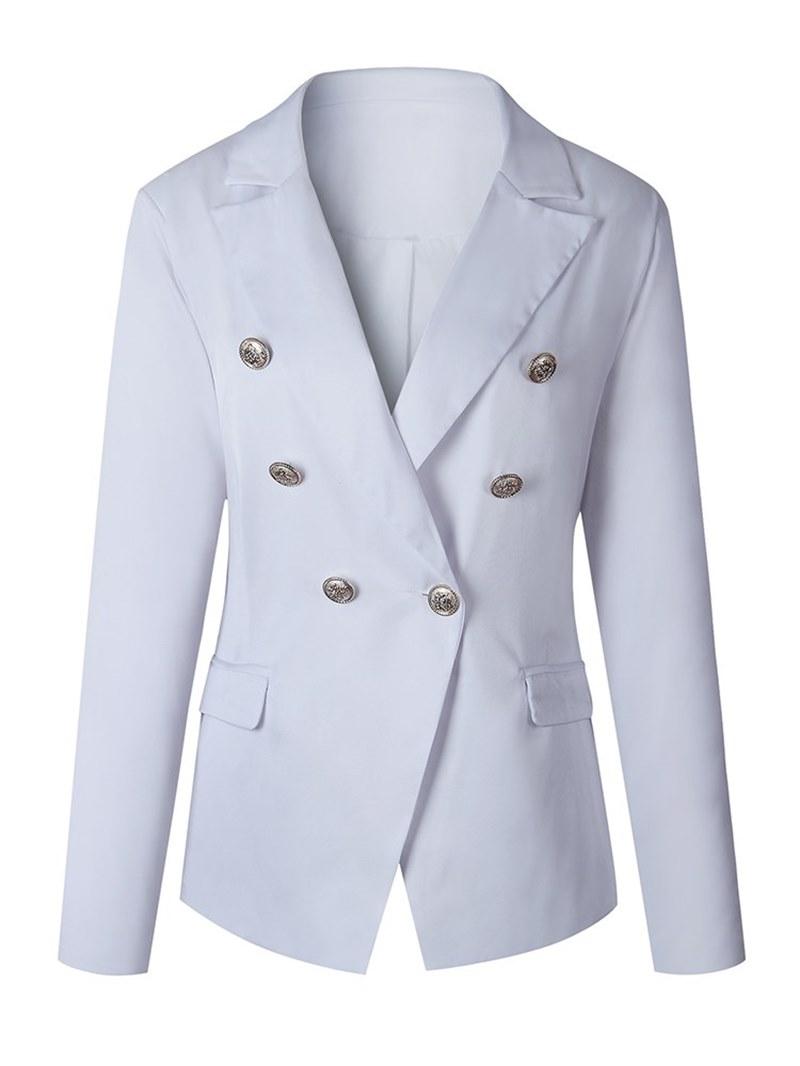 Ericdress Button Double-Breasted Plain Blazer