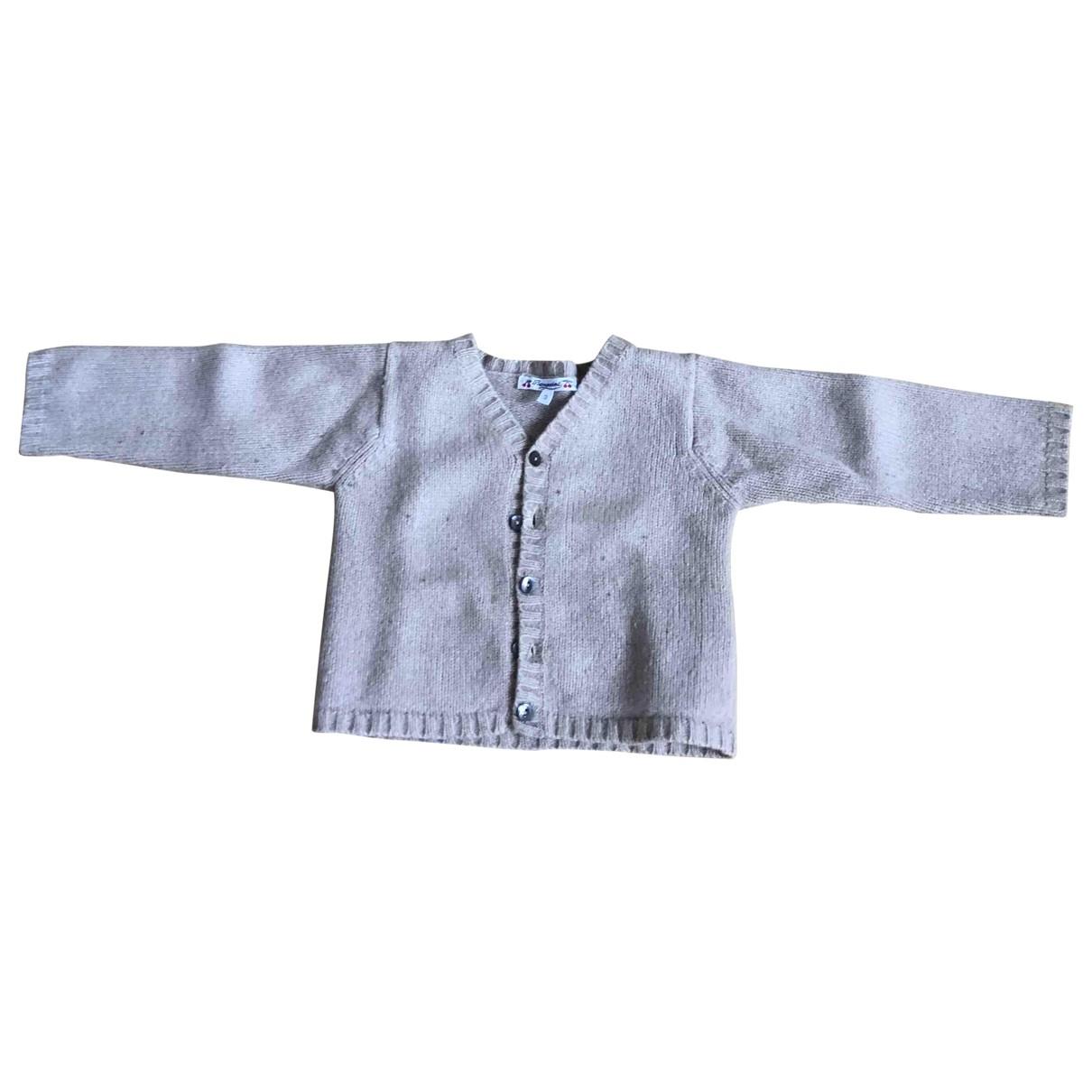 Bonpoint - Pull   pour enfant en laine - beige