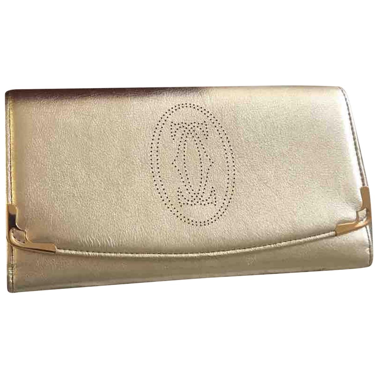 Cartier - Portefeuille   pour femme en cuir - metallise