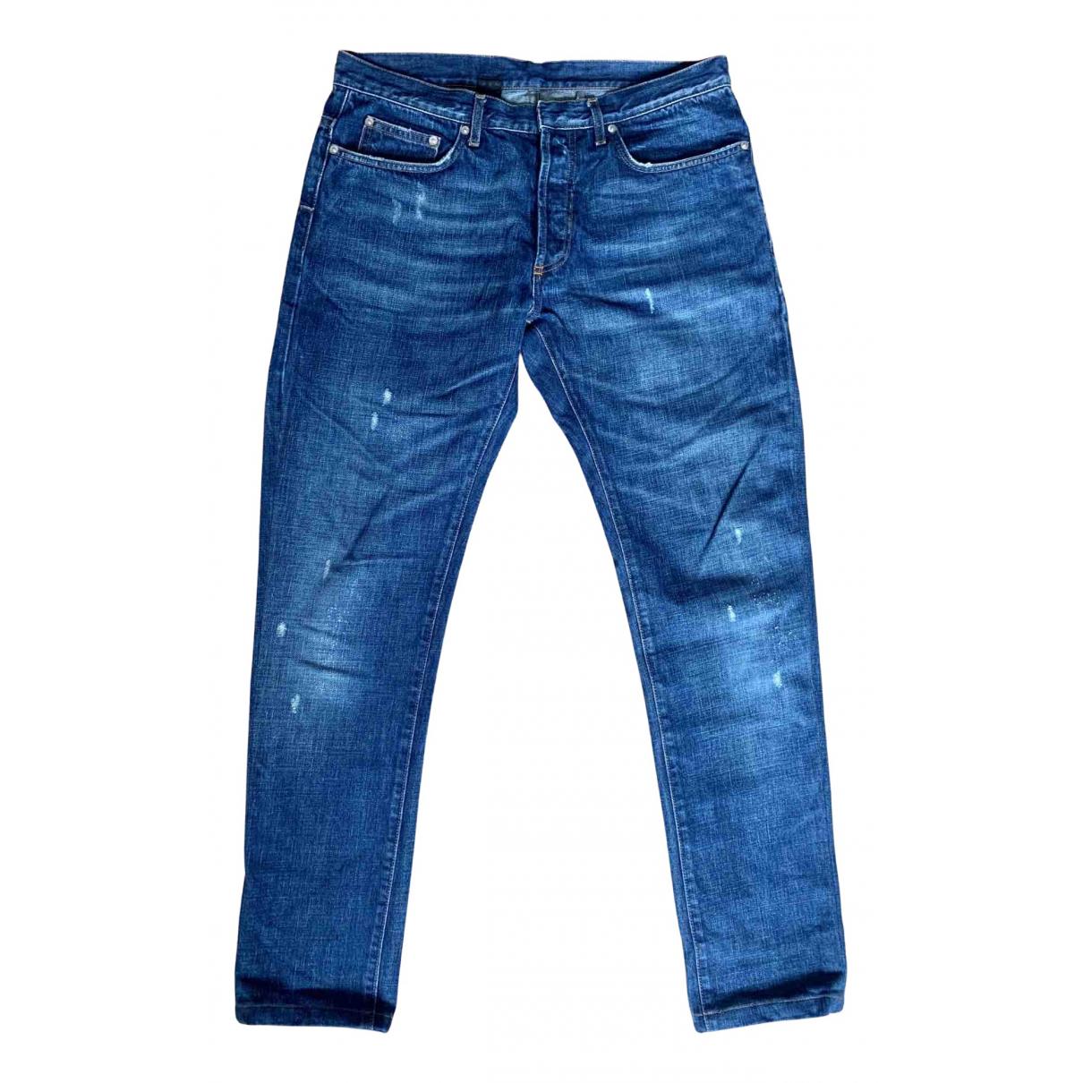 Dior Homme N Blue Cotton Jeans for Men 32 US