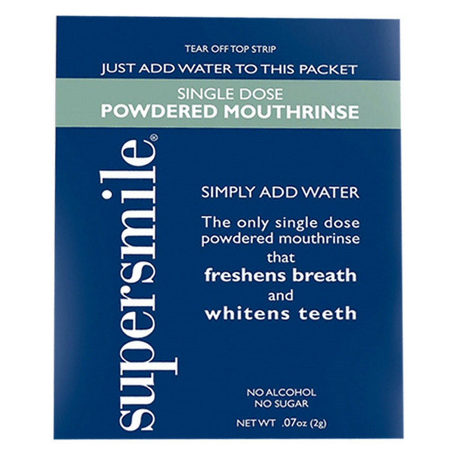Supersmile SINGLE DOSE POWDERED MOUTHRINSE - 60 Pack (60 Packettes)