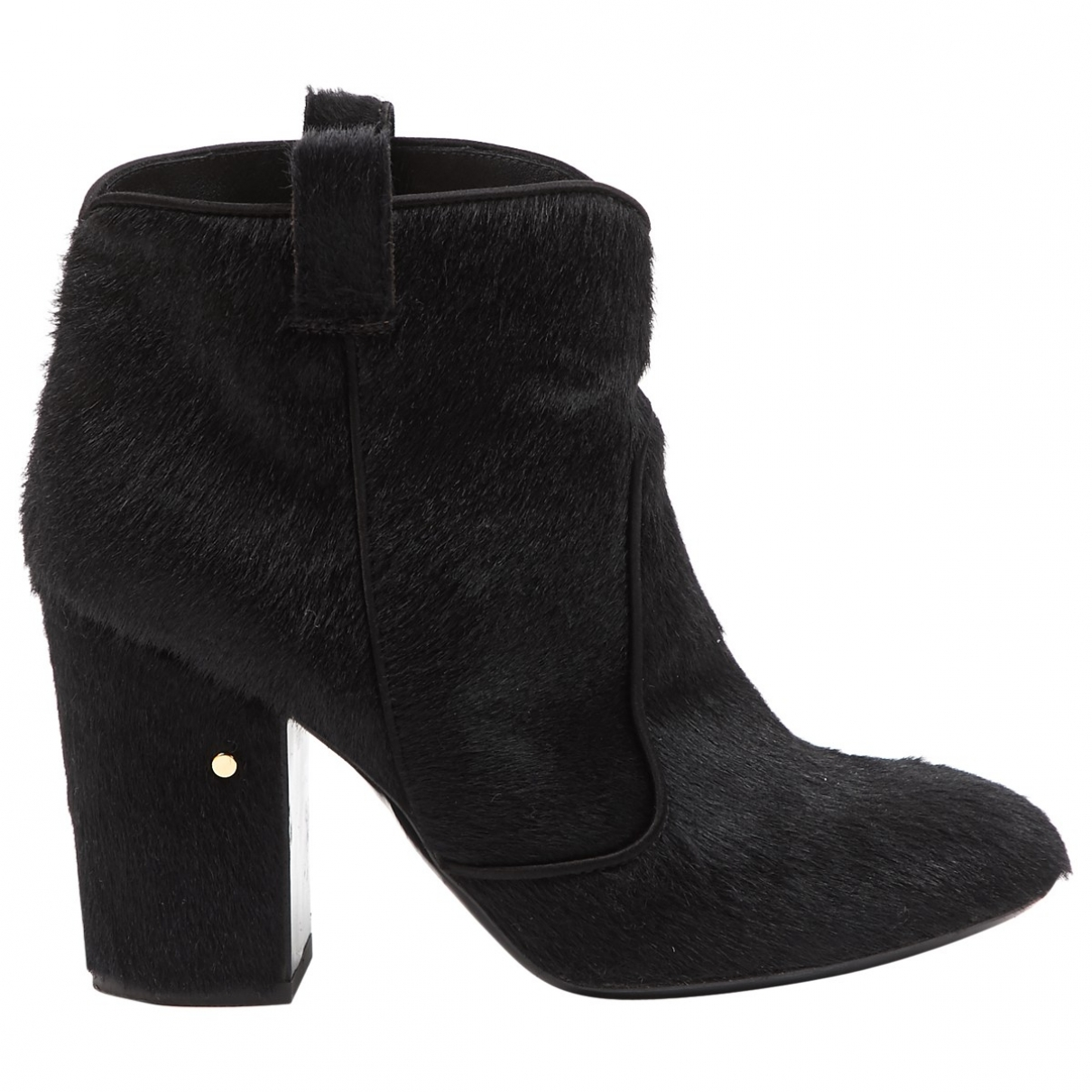 Laurence Dacade \N Black Pony-style calfskin Ankle boots for Women 36 EU