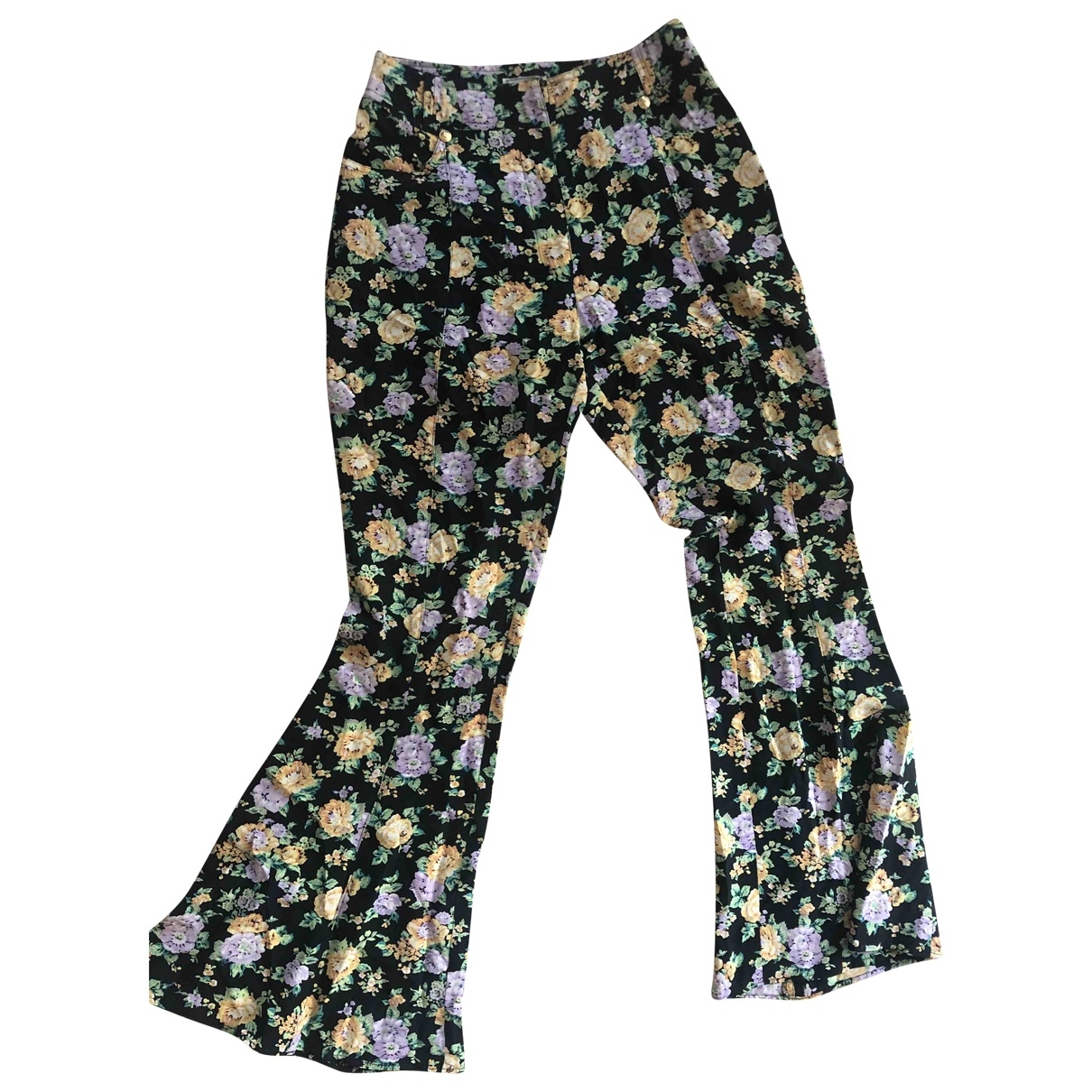 Gianni Versace \N Cotton Trousers for Women 38 IT