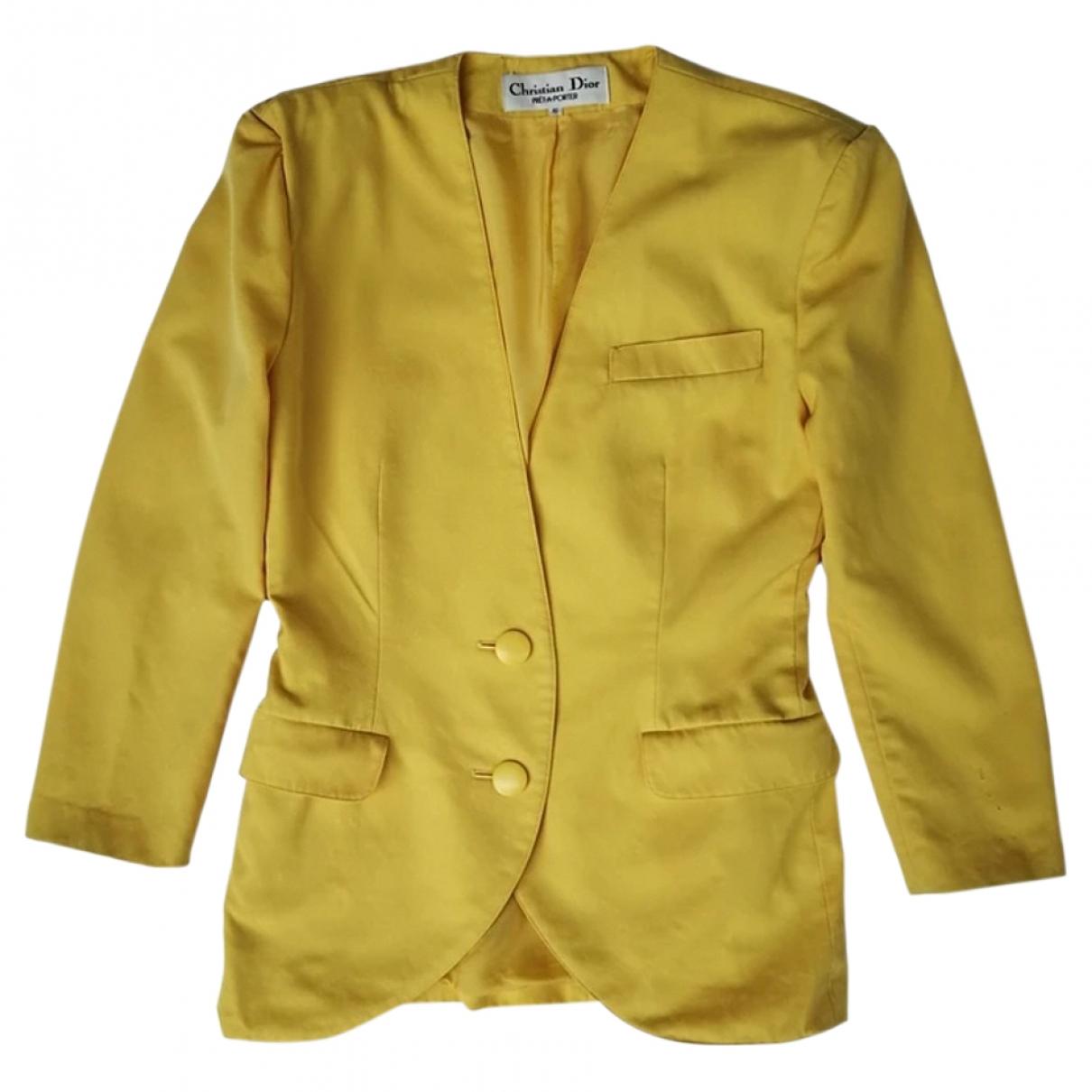 Dior \N Yellow Wool jacket for Women 36 FR