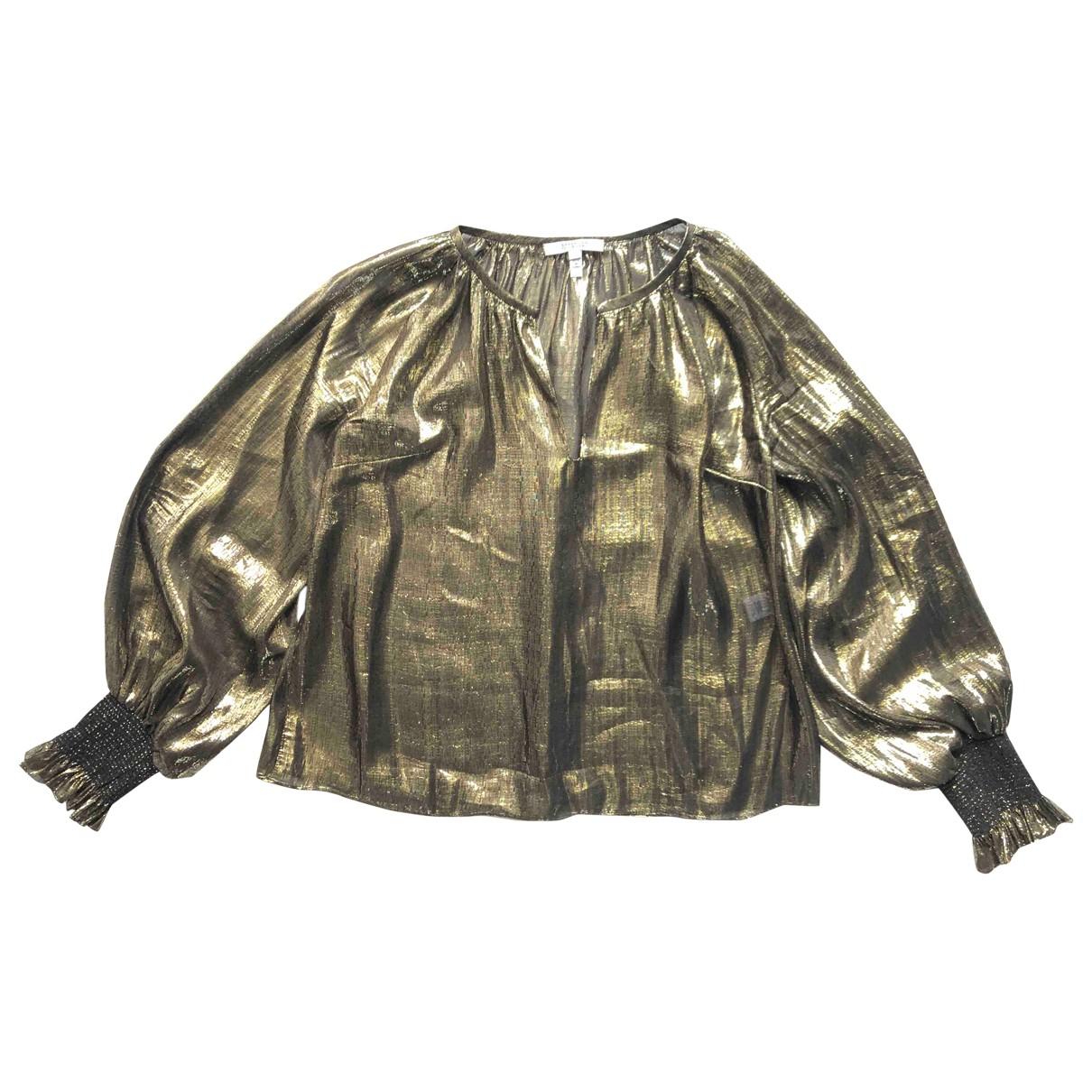 10 Crosby By Derek Lam - Top   pour femme en soie - metallise