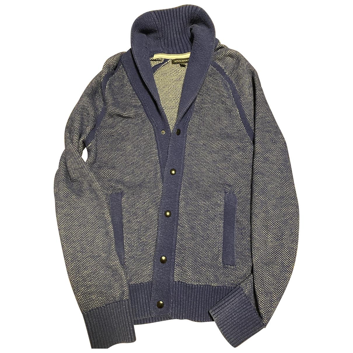 Banana Republic \N Pullover.Westen.Sweatshirts  in  Blau Baumwolle