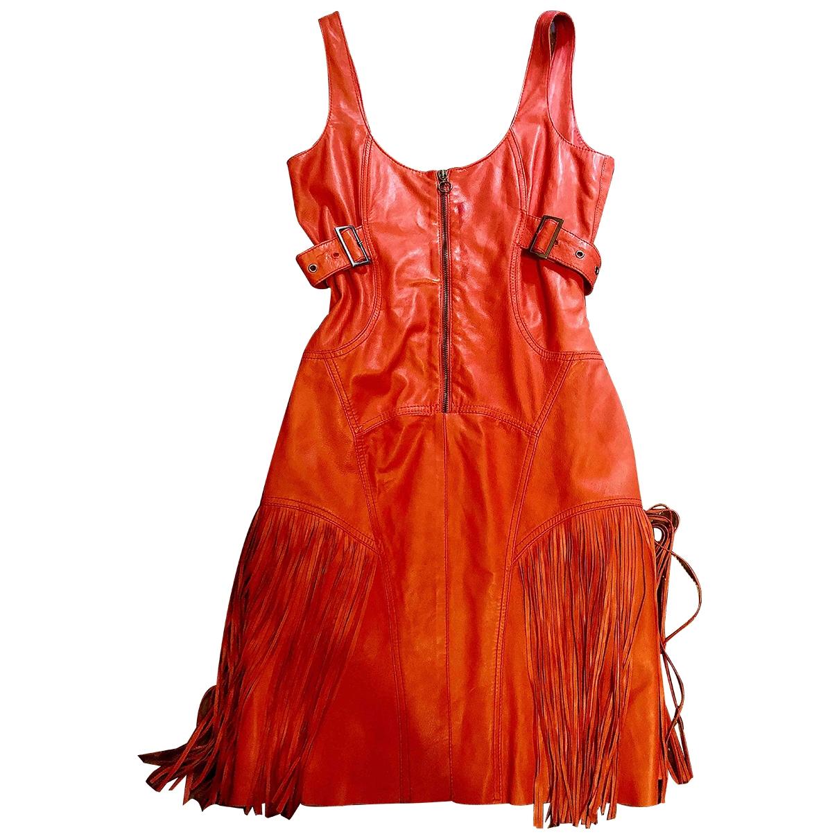 Versace Jeans \N Kleid in  Rot Leder