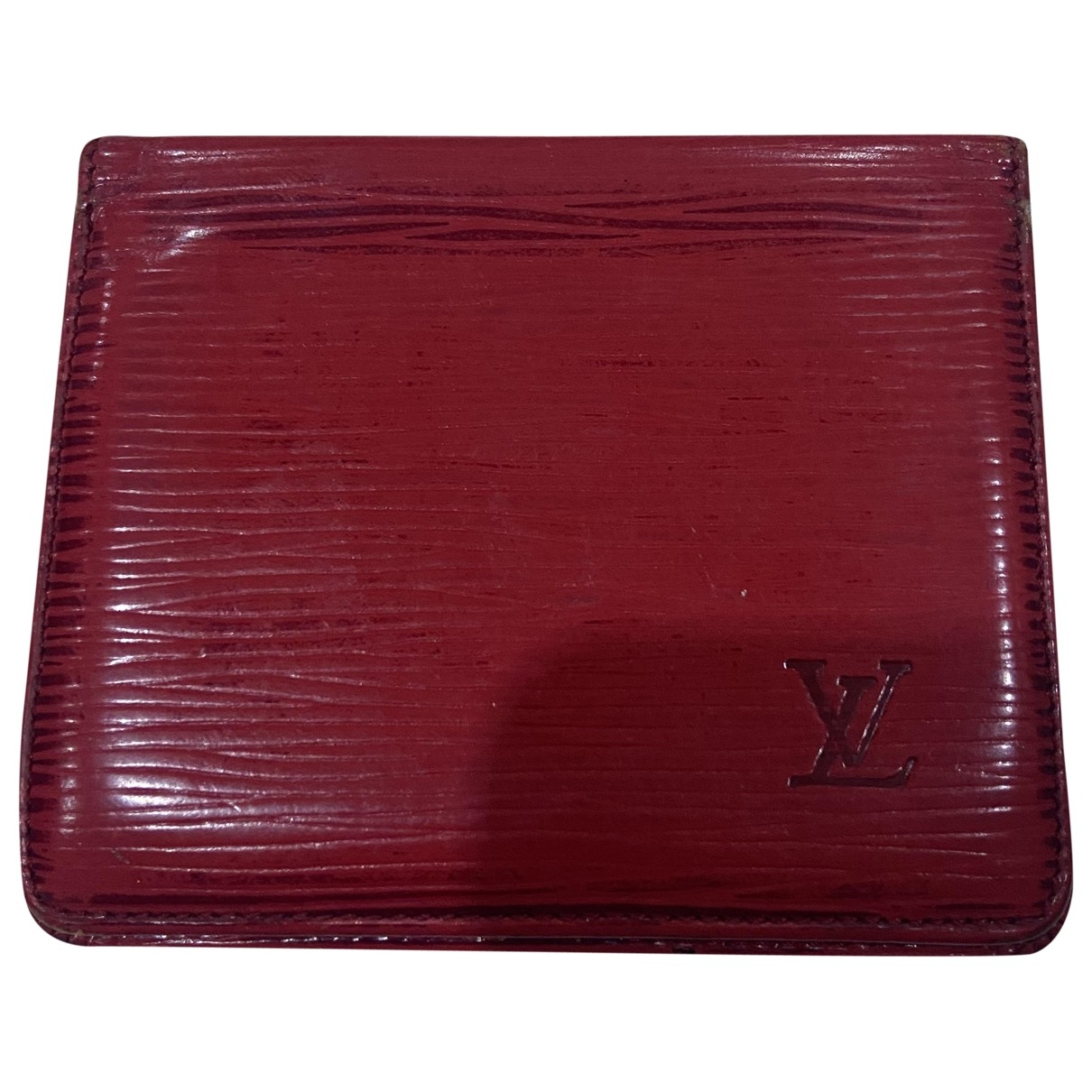 Louis Vuitton \N Red Leather Small bag, wallet & cases for Men \N