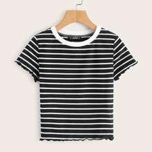 Strick T-Shirt mit Streifen