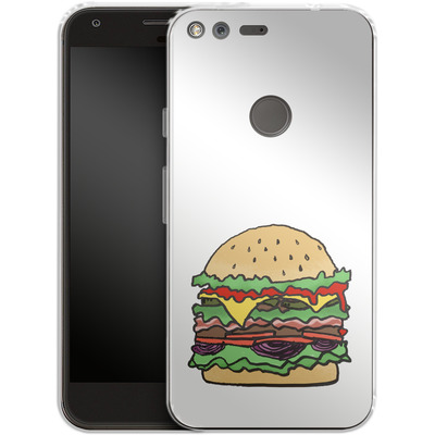 Google Pixel Silikon Handyhuelle - Burger von caseable Designs