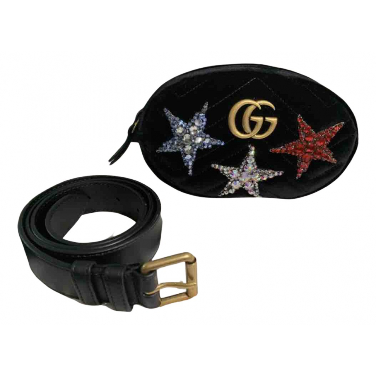 Gucci Marmont Black Velvet Clutch bag for Women N