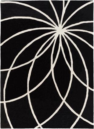 Forum FM-7072 8' x 11' Rectangle Modern Rug in Black