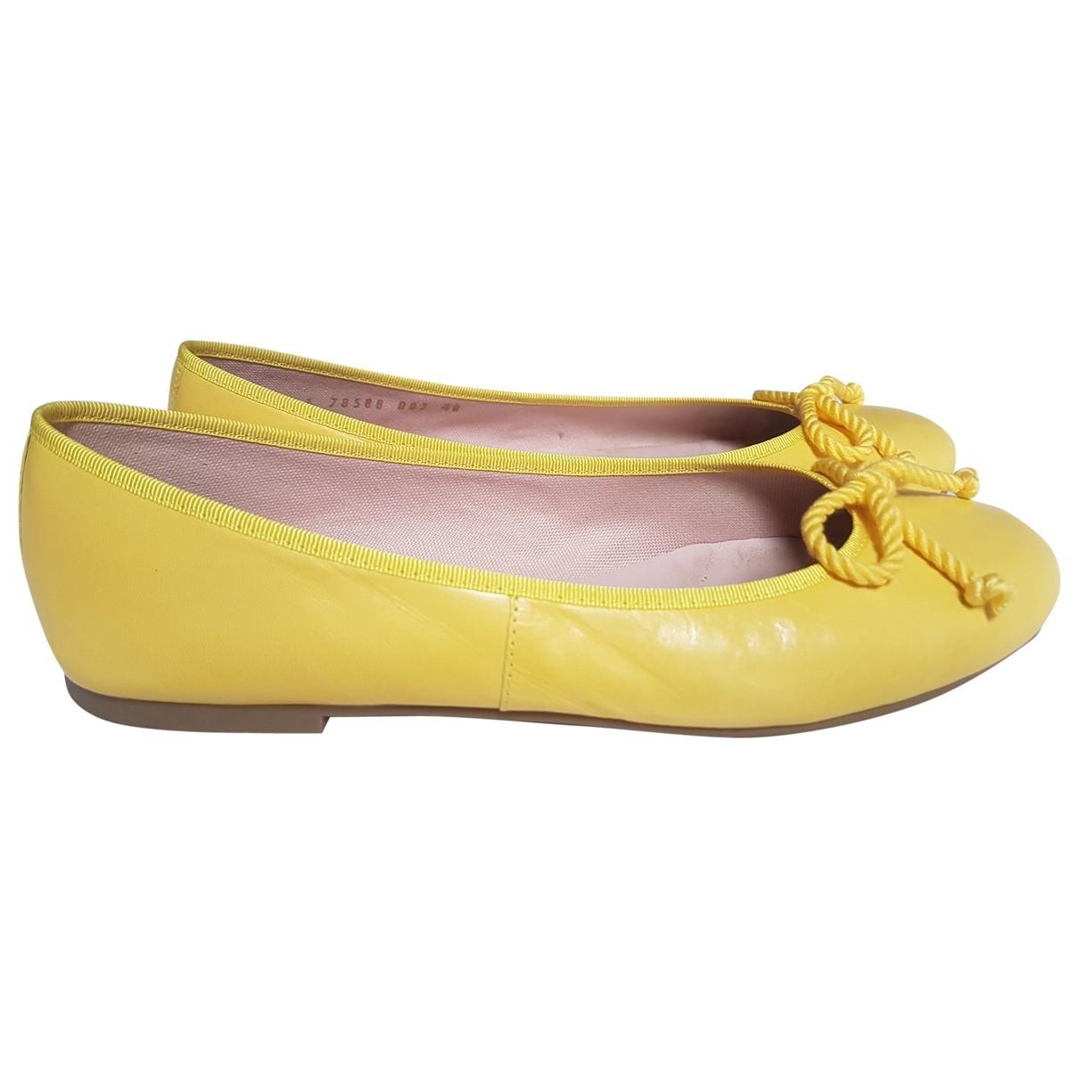 Pretty Ballerinas \N Ballerinas in  Gelb Leder
