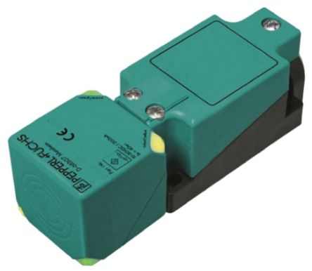 Pepperl + Fuchs Inductive Sensor - Block, PNP-NO Output, 15 mm Detection, IP68, IP69K, M20 Gland Terminal