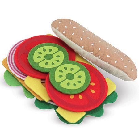 Melissa & Doug Felt Play Food Sandwich Set, One Size , Multiple Colors