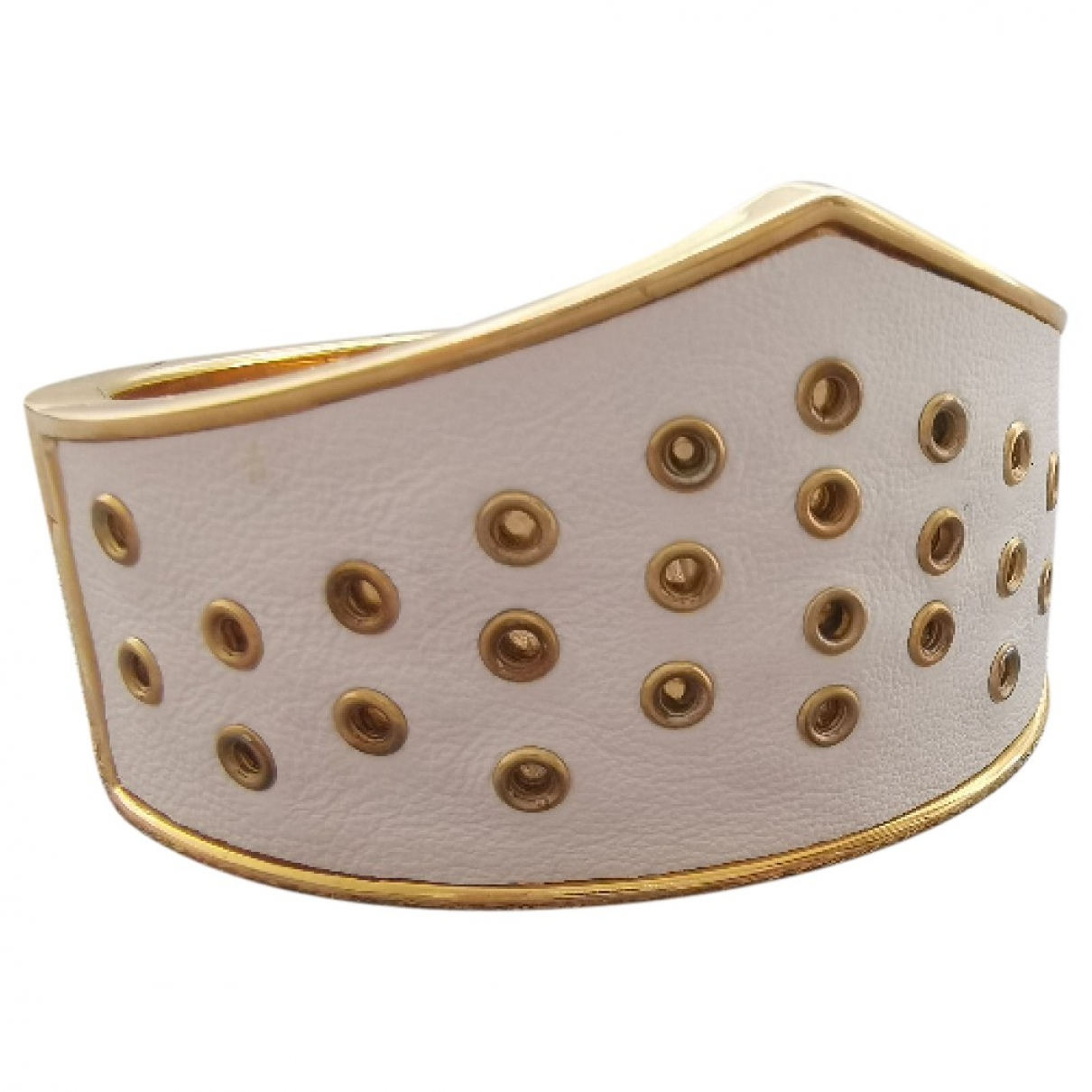 Non Signe / Unsigned \N Armband in  Weiss Metall