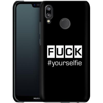 Huawei P20 Lite Smartphone Huelle - Fck Yourselfie von Statements