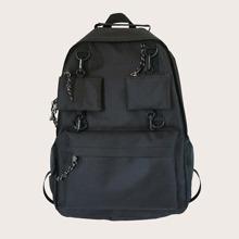 Pocket Front Oxford Backpack