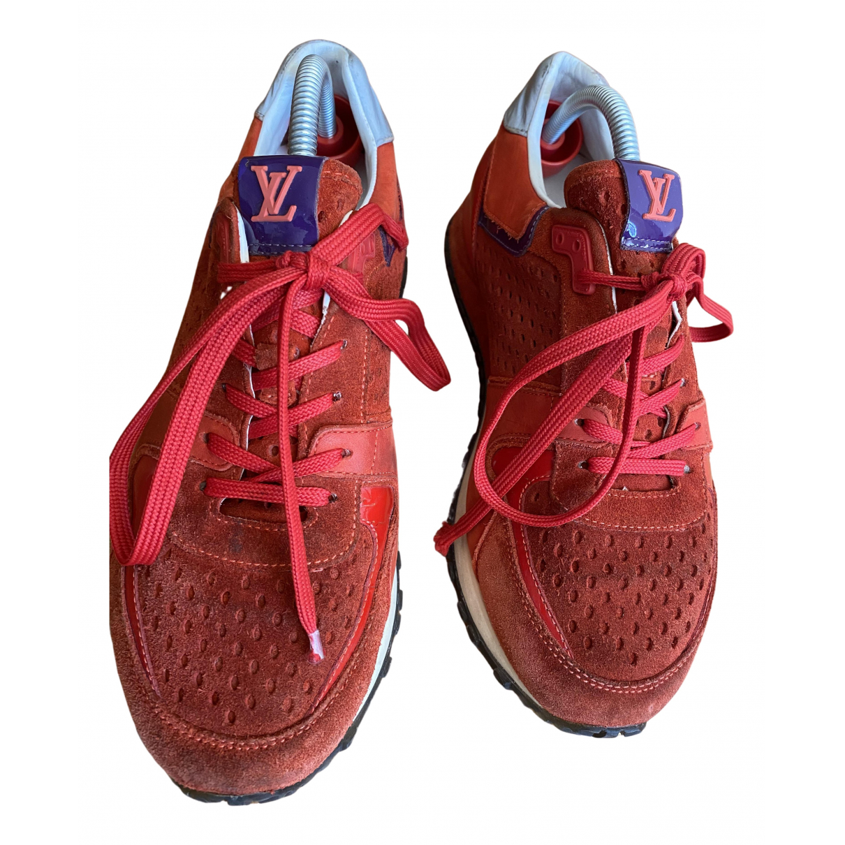 Louis Vuitton Run Away Red Leather Trainers for Women 38 EU