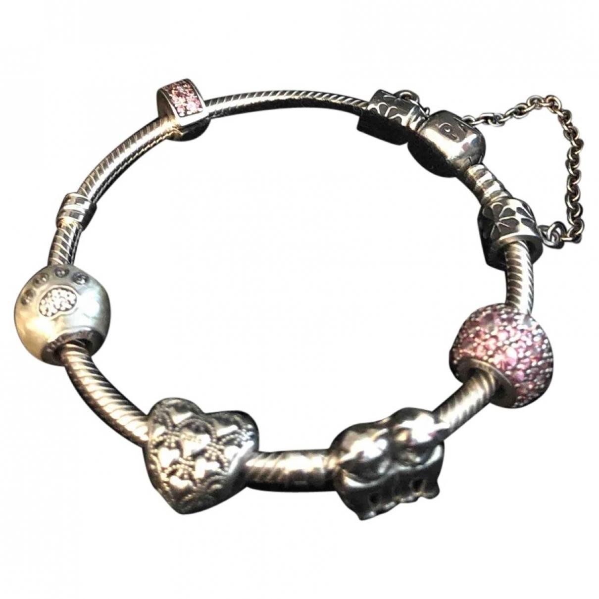 Pandora \N Armband in  Rosa Silber